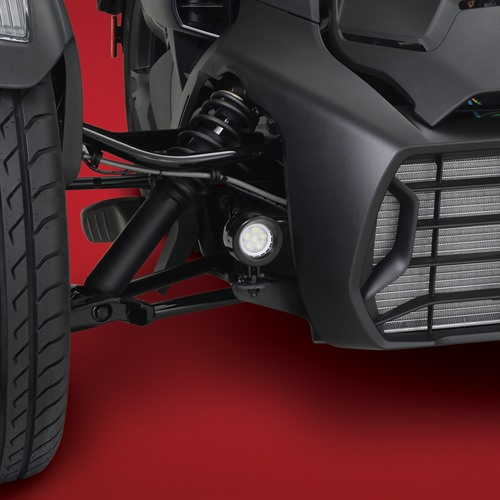 Black Mini LED Light Kit on Can-Am Ryker (Close Up)