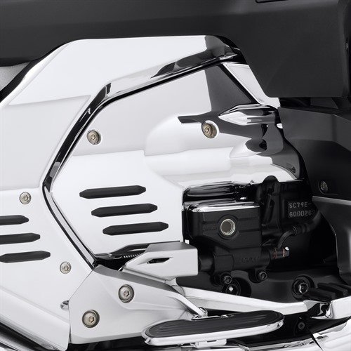 Chrome Engine Side Cover On GL1800 (Right Side View)