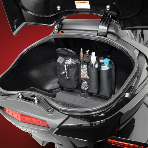Trunk Organizer on Spyder F3T (Loaded)
