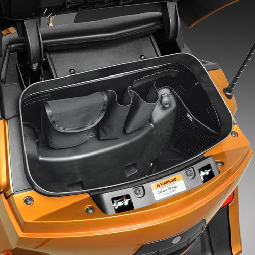 Trunk Organizer on Spyder RT (Right View)