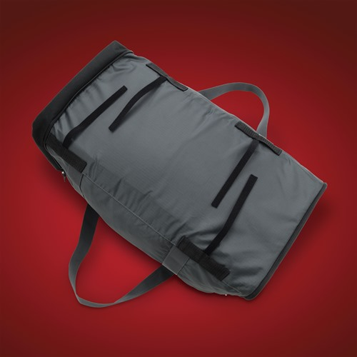 Collapsible Rack Bag (Bottom Hook and Loop View)