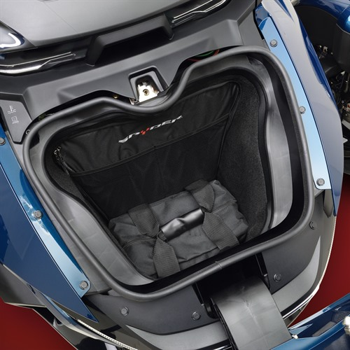Front Trunk Liners On 2020 Spyder RT (Bottom Liner)