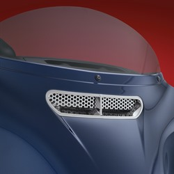 CHROME FAIRING VENT & SCREEN