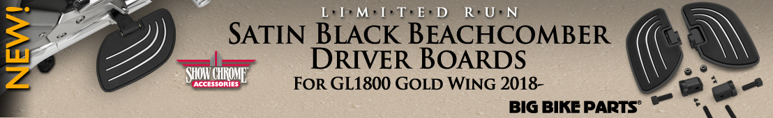Satin Black Beachcomber Driver Boards For Honda GL1800 Gold Wing (2018 and newer) - 