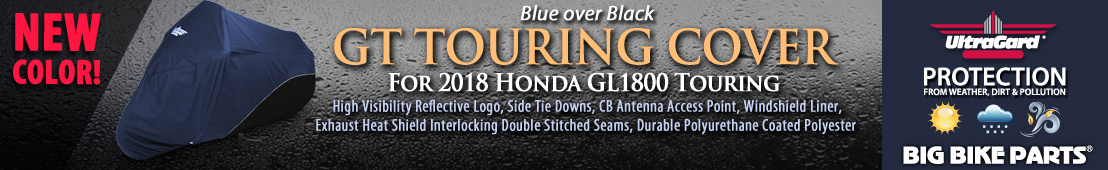 UltraGard GT Touring Cover for 2018 Honda GL1800 Gold Wing Touring (Blue over Black) - 