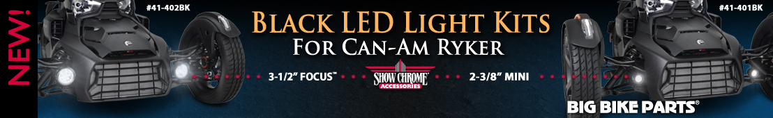 Satin Black LED Light Kits For Can-Am Ryker -
