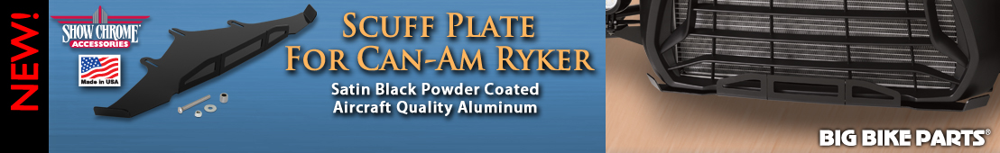 Satin Black Powder Coat Aluminum Scuff Plate For Ryker) - 
