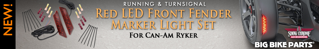 Red LED Front Fender Running/Turnsignal Light Set For Can-Am Ryker - 