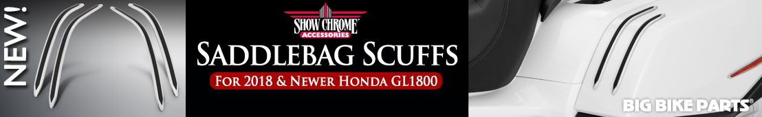 GT Saddlebag Scuffs For Honda GL1800 Gold Wing (2018 and newer) - 