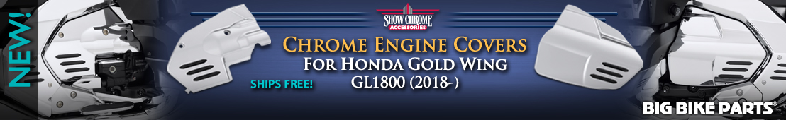 Chrome Engine Side Covers For Honda GL1800 Gold Wing (2018-) - 