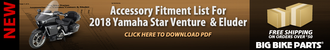 2018 Yamaha Star Venture and Eluder Accessory Fitment List - 